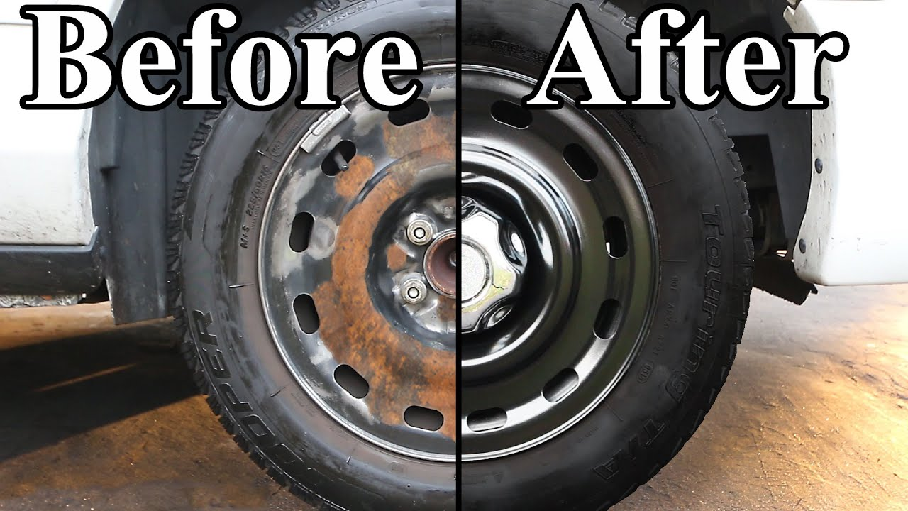 How To Paint The Wheels On Your Car Youtube