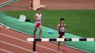 山形インターハイ2017 男子3000mSC予選3組
