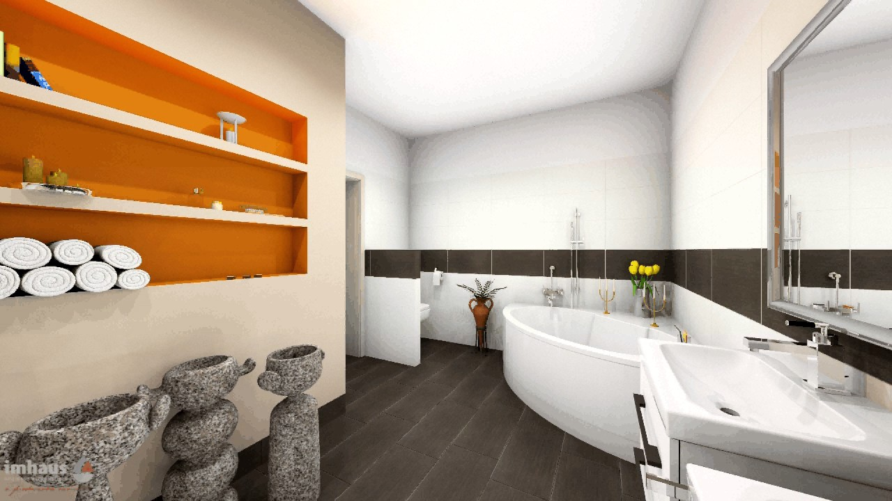 L alakú fürdőszoba fürdőkáddal 8 m2 felett - YouTube