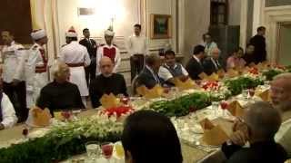 President hosted dinner to SAARC Leaders on May 26, 2014