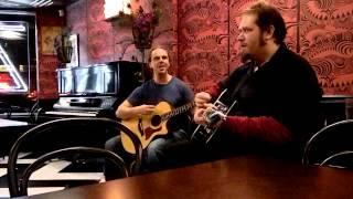 """Matt Sams and Greg Bates performing the Smashing Pumpkins song """"Thirty-Three"""" at Zuzu's"""