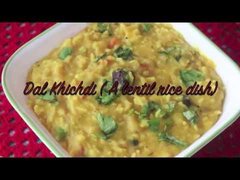 Dal khichdi (Lentil and rice dish)