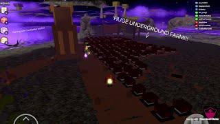 ROBLOX Booga Booga | BUILDING *HUGE* UNDERGROUND FARM IN VOID!!! (GLITCH!)