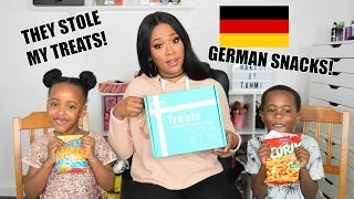 TASTING GERMAN SNACKS WITH MY TWINS | TRYTREATS.COM