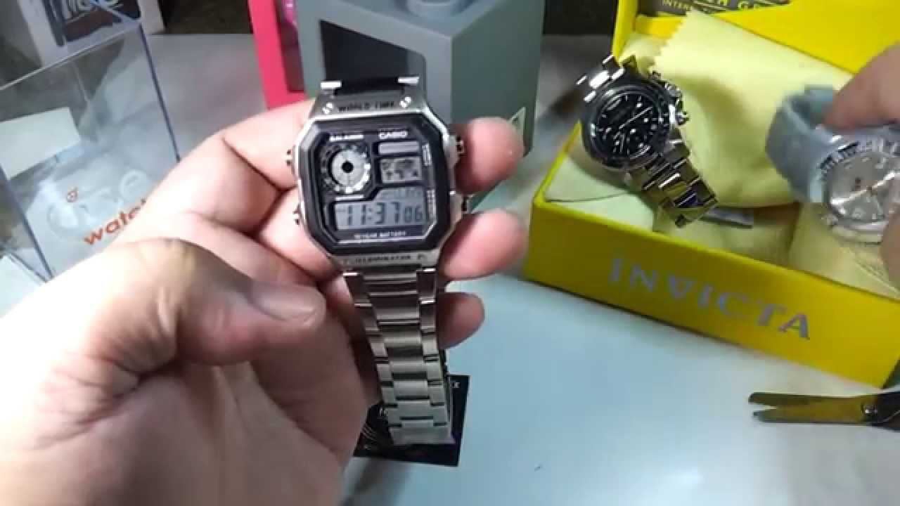Casio AE -1200WHD -1A (silver) LAZADA PH unboxing and