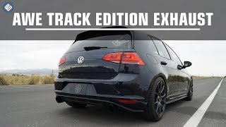 awe track edition cat back volkswagen vw mk7 gti exhaust sound clip