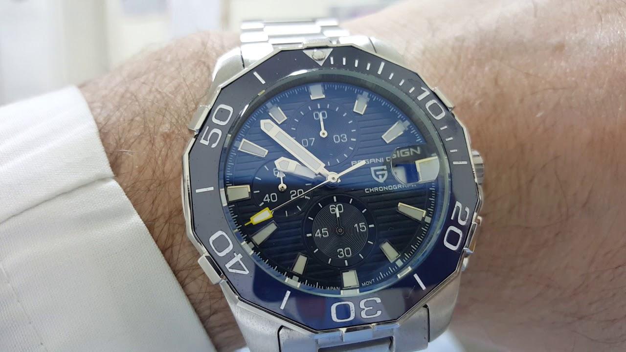 pagani design quartz watch movement defect - youtube