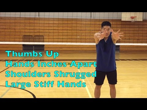 Middle Blocker Hand + Arm Positioning - How To BLOCK A Volleyball Tutorial (part 2/2)