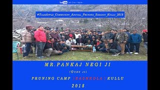 2018 | Mr. Pankaj Negi ji | Pruning Camp | BASHKOLA | Kullu |  Lets Grow Apple