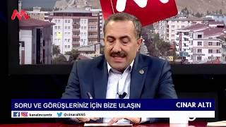 22 Ocak 2019 Salı - Kanal M Çınar Altı Programı, Sinan Başak, Abdulahat Arvas, Ziya Türk, Kenan Gül