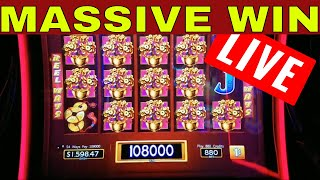 MASSIVE WIN on Dancing Drums Slot Machine   LIVE STREAM   LIVE CASINO PLAY   Better Than HANDPAY