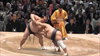 稀勢の里 vs 豊ノ島の取組。 2016大相撲春場所3日目。