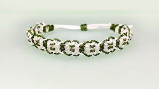 나뭇잎 모양 매듭팔찌 만들기│마크라메 매듭팔찌 DIY …