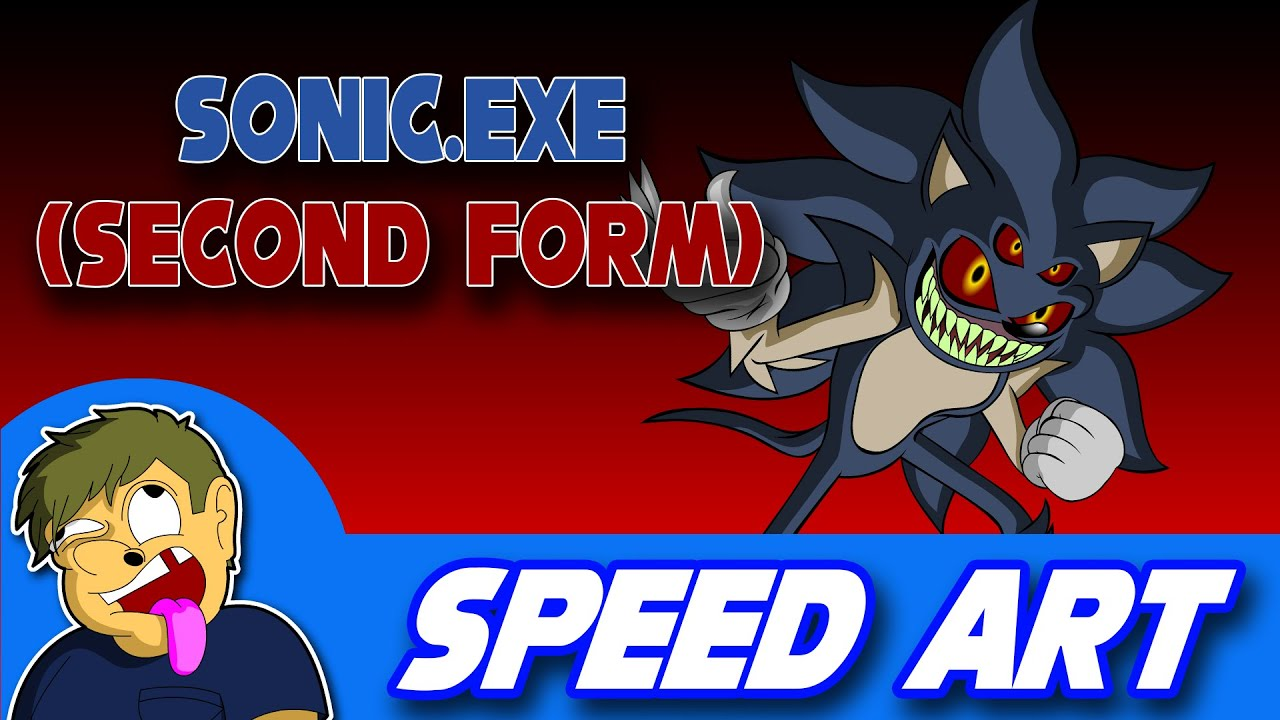 Speed Art: Sonic.exe (Second Form) - YouTube
