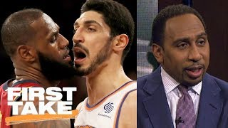 Stephen A. Smith sides with LeBron James in scuffle with Knicks | First Take | ESPN thumbnail