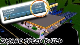 [Roblox: Gas Station Tycoon] HUGE STATION SPEED BUILD