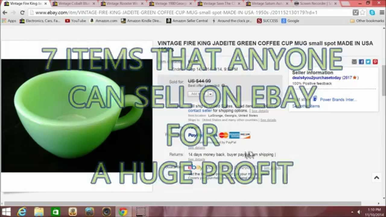 7 Profitable Items That Anyone Can Sell On Ebay How I Make Money On Ebay Youtube