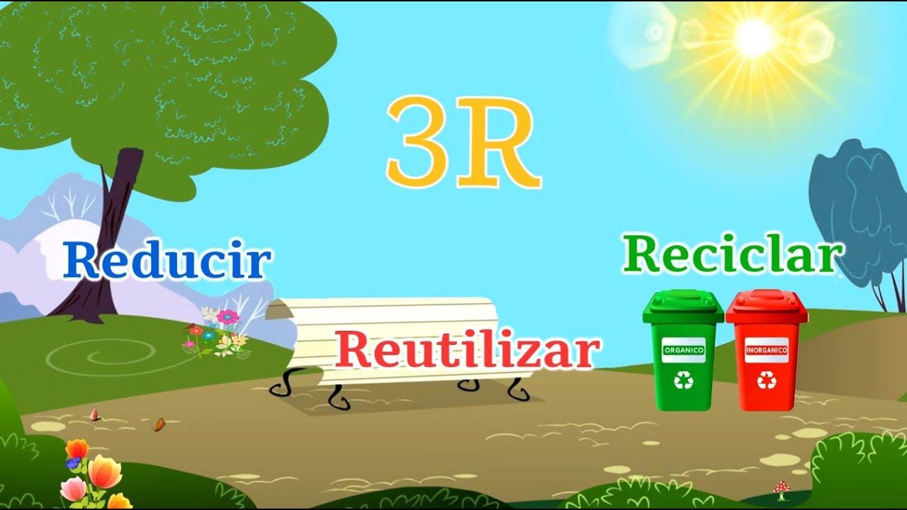 la regla de las 3 r reduce reutiliza y recicla youtube