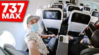 🔥 Volé en un avión 737 MAX (CLASE PREMIER)⭐ | Alex Tienda ✈️