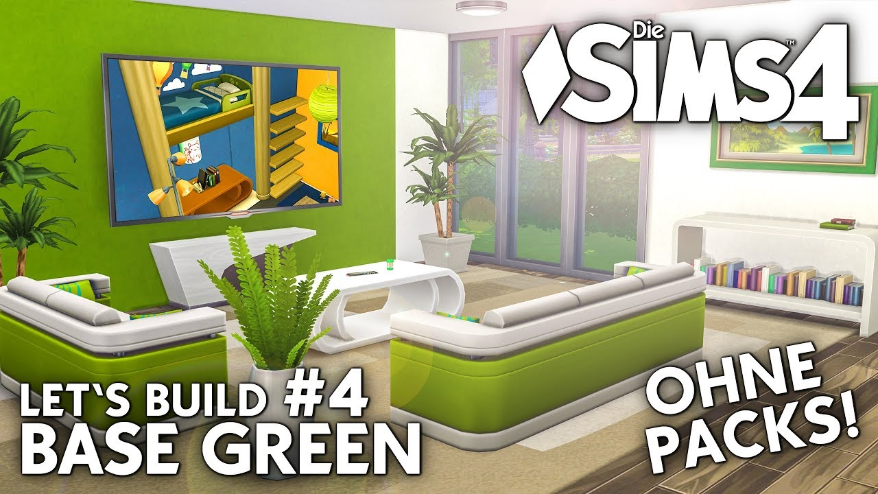 die sims 4 haus bauen ohne packs base green 4. Black Bedroom Furniture Sets. Home Design Ideas