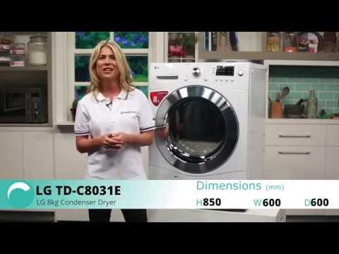 LG TD-C8031E 8kg Condenser Dryer Overview - Appliances Online
