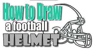 🎨 How to Draw Football Helmet 🏈