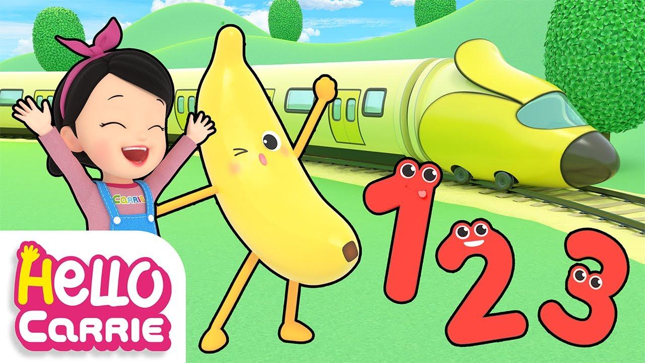 🍌Banana nanana🍌 | Let's take the banana subway | Number song | Hello Carrie Kids Song