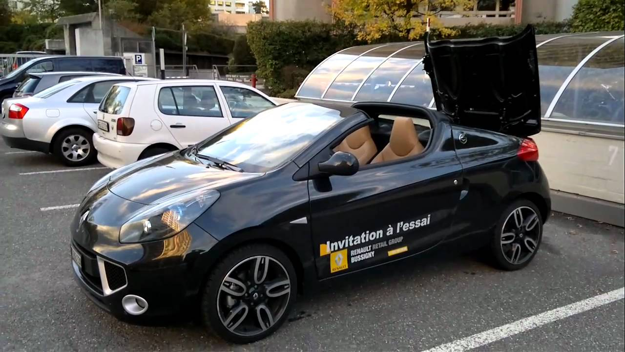 renault wind roof open youtube. Black Bedroom Furniture Sets. Home Design Ideas