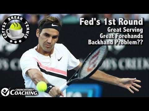2018 Australian Open Federer's 1st Rd Match | Coffee Break Tennis