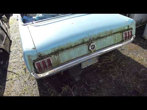 Junkyard Find: I think I found a 1964-1/2 K  Code Mustang Convertible !
