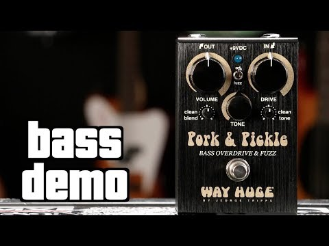 Dunlop Way Huge WHE214 Pork and Pickle Bass Overdrive /& Fuzz Pedal!