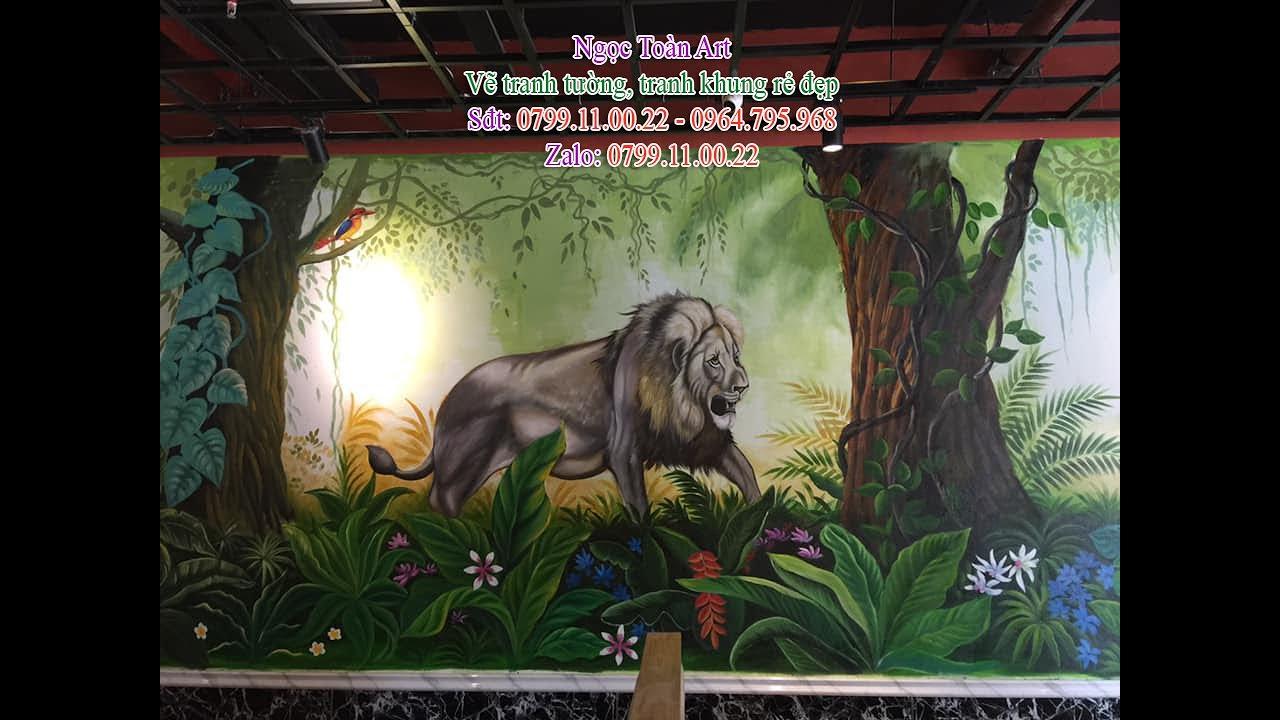 Vẽ tranh tường quán buffet lẩu, nướng ở Núi Trúc, p. Kim Mã, Ba Đình, Hà Nội