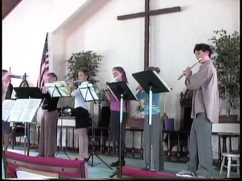 "Schumann's ""Old Bogey"" arranged for flute choir, here performed by 7 middle school and high school students from several years ago."