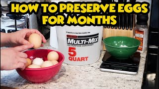 How to Preserve Eggs by Water Glassing