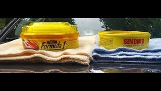 Formula 1 Carnauba Paste Wax Vs Simoniz Original Paste Wax(water test)