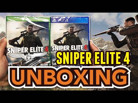 Sniper Elite 4 (Xbox One/PS4) Unboxing !!