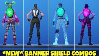"""*NEW* """"Banner Shield"""" Backbling + Skin Combos - Fortnite Battle Royale 🎮"""