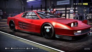 Need for Speed Heat - Ferrari Testarossa Coupe 1984 - Customize | Tuning Car (PC HD) [1080p60FPS]