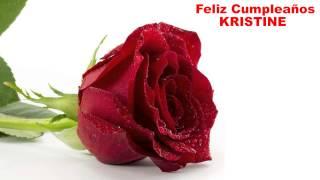 Kristine - flowers - Happy Birthday