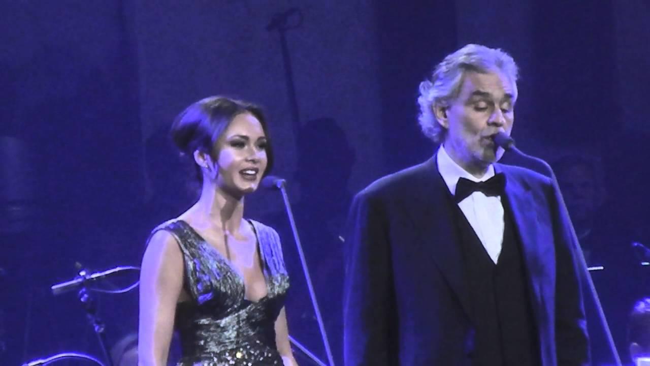 ANDREA BOCELLI AND SOPRANO GARIFULLINA - 12/5/2015 - MGM GRAND , LAS VEGAS