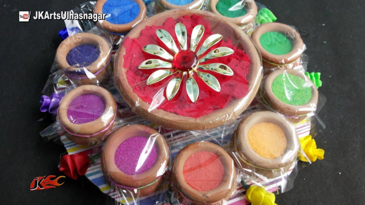 Holi Festival Color Platter How To Make Holi Gift Ideas Jk Arts
