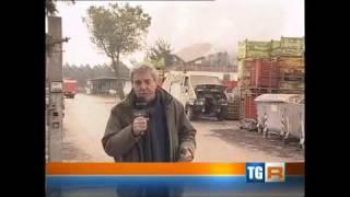 Nube tossica causata da incendio a Ceccano (FR) - Tgr Lazio 4 genn.2011