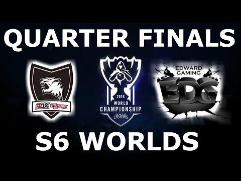ROX Tigers Vs EDG - Quarter Finals Full Series S6 LoL ESports World Championship 2016! ROX Vs EDG