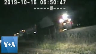 Dashcam Video Shows Last Second Rescue From Oncoming Train in Utah