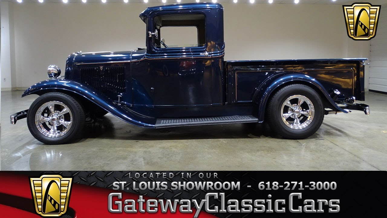 1934 ford pickup stock 7471 gateway classic cars st. Black Bedroom Furniture Sets. Home Design Ideas
