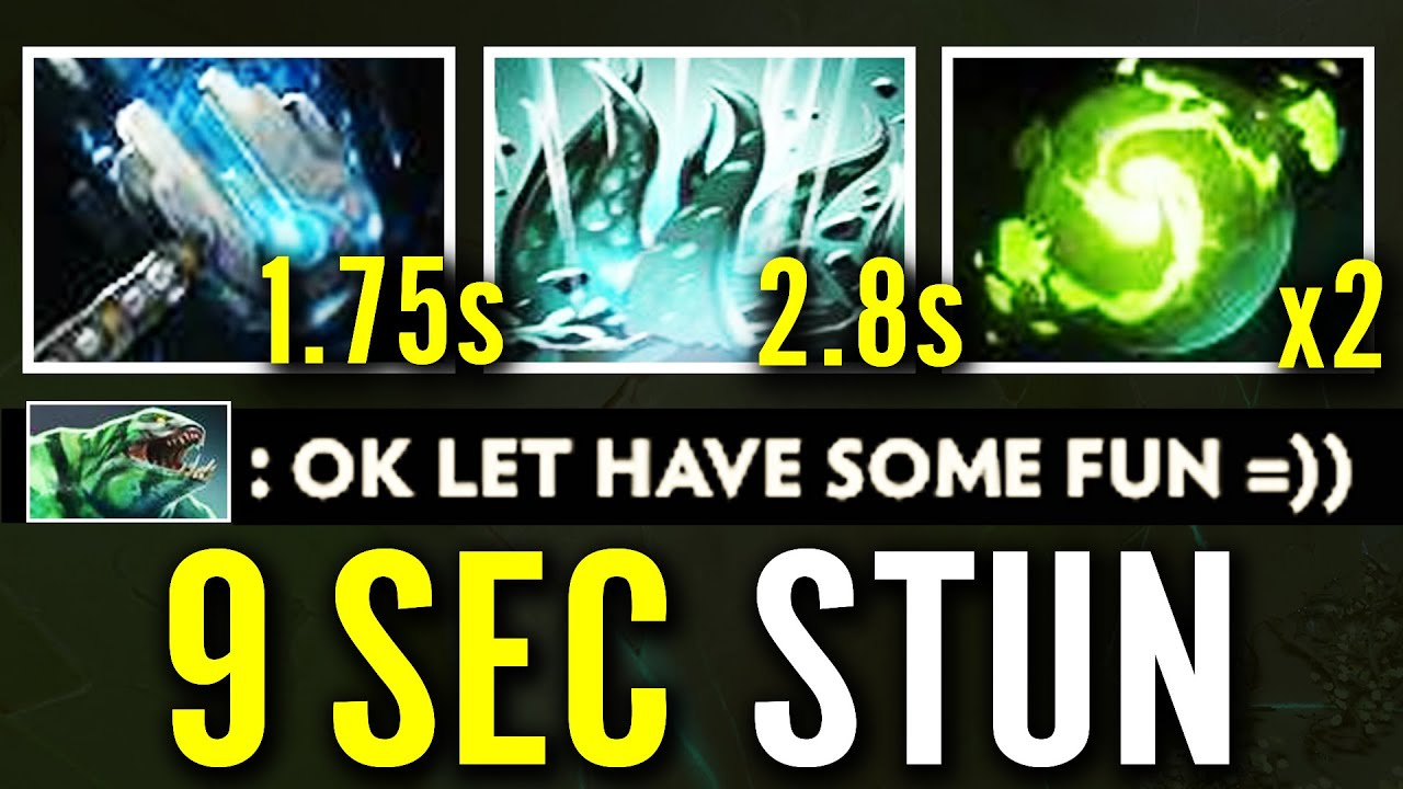 9sec STUN COMBO Is POSSIBLE! Tidehunter  Meteor Hammer + Refresher Orb WTF Crazy NEW META Dota 2 Pro