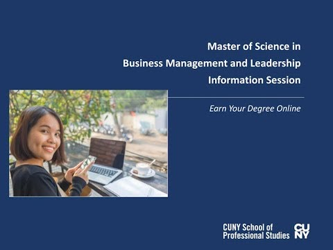 Online MS in Business Management and Leadership Degree