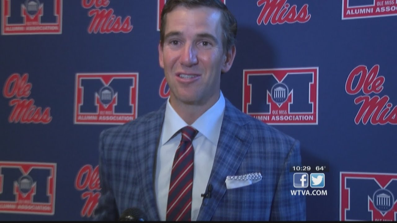 Ole Miss football retires Eli Manning's jersey number - The Oxford ...