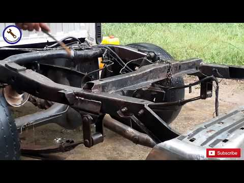 How to repair the chassis of a Isuzu cab