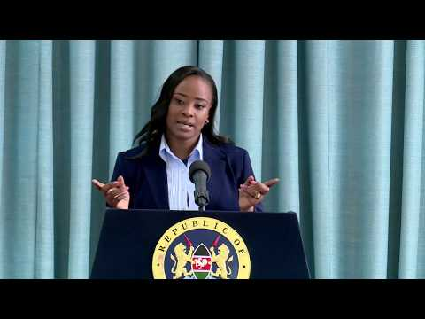 Press Briefing by State House Kenya Deputy Spokesperson Ms. Kanze Dena at State House, Nairobi.